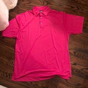 FootJoy, pink, L, golf polo